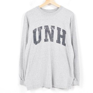 90年代 The Cotton Exchange University of New Hampshire Wildcats カレッジ ロングTシャツ ロンT USA製 メンズS /wak4335 ...