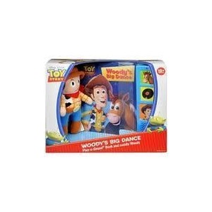 Toy Story Woody's Big Dance Play-a-sound Book and Cuddly Woody by Disney/Pixar [並行輸入品]