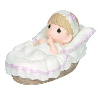 Precious Moments、洗礼ギフト、Baptizedで彼の名前、ガールズ、Bisque Porcelain Figurine , # 143011 by Precious Moments