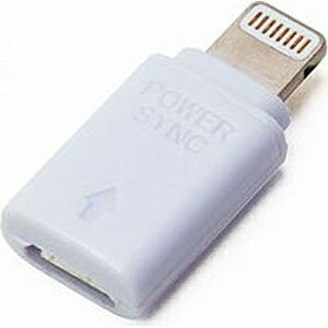 PGA iPad/iPad mini/iPhone/iPod対応 変換アダプタ ホワイト (micro USB→Lightning) MFi認証 PG-IP5CN04WH