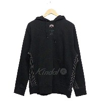 【中古】adidas originals by Alexander Wang 2017SS AW LOGO HOODY USED加工パーカー ブラック サイズ:M 【送料無料】 【261217】...