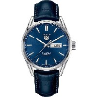タグ ホイヤー メンズ 腕時計【war201e.fc6292 carrera stainless steel and leather watch】Blue