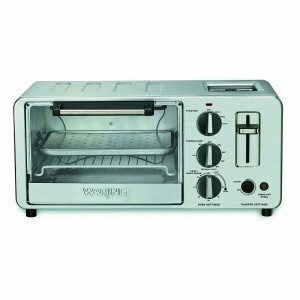 ワーリング オーブントースターWaring WTO150 4-Slice Toaster Oven with Built-In 2-Slice Toaster