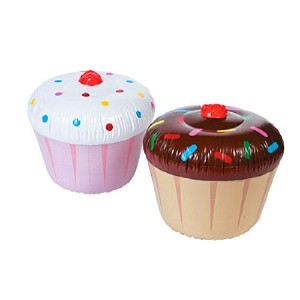 3 pc Inflatable Cupcakes - Assorted Styles by Fun Express