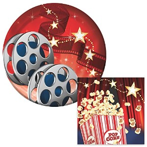 Hollywood Lights Dessert Napkins & Plates Party Kit for 8 by Party Explosions