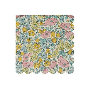 Meri Meri Liberty Poppy & Daisy Small Napkins, Set of 20 by Meri Meri
