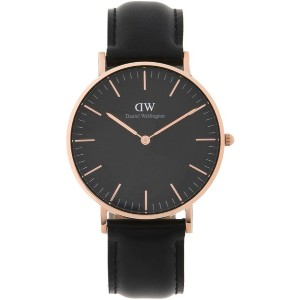 ユニセックス DANIEL WELLINGTON CLASSIC BLACK SHEFFIELD WATCH RG 36MM 腕時計 ブラック