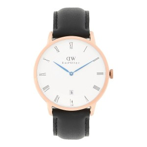 メンズ DANIEL WELLINGTON 1101DW DAPPER SHEFFIELD WATCH ROSE GOLD 38MM 腕時計 ホワイト