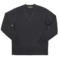 FREEWHEELERS フリーホイーラーズ V NECK SWEATER 1920 - 1930s STYLE SWEATER WORSTED YARN HIGH GAUGE KNIT JET...