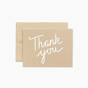 EVERMORE PAPER CO. | THANK YOU CARD | グリーティングカード(型抜き)