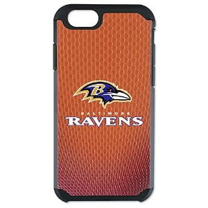 NFL Baltimore RavensクラシックFootball Pebble Grain Feel iPhone 6ケース、ブラウン