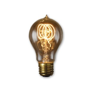 Bulbrite NOS60-VICTOR 60-watt Incandescent Nostalgic Victor Loop A19 with Medium Base, Antique by...