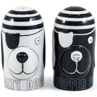 Grant HowardセラミックSalty Dog and Pepper Pup Salt and Pepper Shaker Set