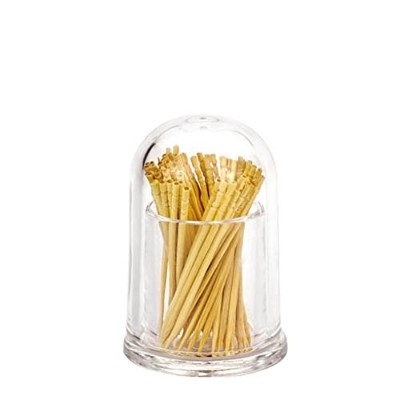 (Round) - Giftale Acrylic Toothpick Holder Break-Resistant, Polycarbonate Plastic Glassware...