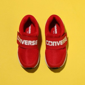 CONVERSE KID'S WV BIGLOGO(コンバース キッズ WV ビッグロゴ)レッド【キッズ スニーカー】18SP-I