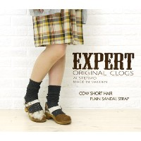 [エキスパート]EXPERT COW SHORT HAIR PLAIN SANDAL STRAP NEP1102H-0341102 34(22.0~22.