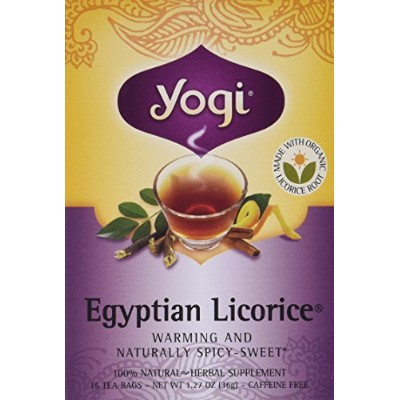 Yogi 27032-3pack Yogi Egyptian Licorice Tea - 3x16 bag