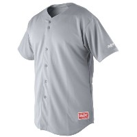 RawlingsメンズFull Button Jersey withラグラン袖 L