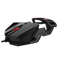 Mad Catz RAT 1 Wired Optical USB LED RGB Mouse with 6 Programmable Buttons, Customizable - Black ...