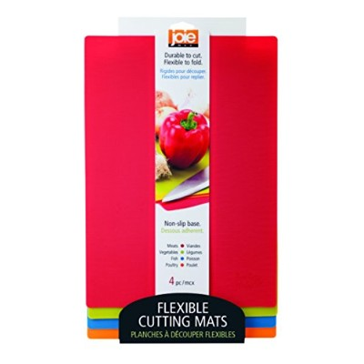 Joie Colour Coded Flexible Cutting Mats (4 Pack), Multicolor