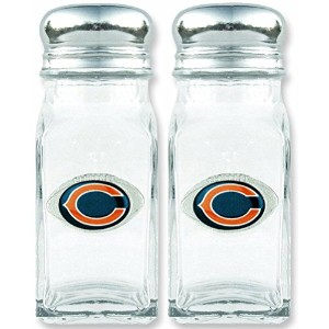 Chicago Bears Salt & Pepper Shakersガラスのセット2a100105