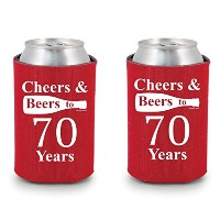 shop4ever Cheers & Beers to 70 years can Coolie誕生日ドリンククーラーCoolies レッド
