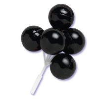 Oasis Supply Balloon Cluster for Cupcake/Cake, 5-Inch, Black Color, Set of 4 by Oasis Supply