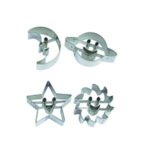 R & M International 1803 Astro Cookie Cutter, Planets and Stars, Set of 4 by R&M