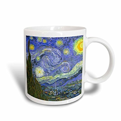 3dローズInspirationzStoreビンテージアート–The Starry Night by Vincent Van Gogh 1889–有名なFineアートby Masters–...