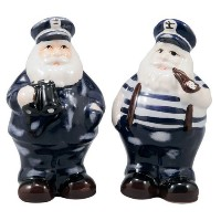 Nautical Ship Boat Captain Salt and Pepper Shakers