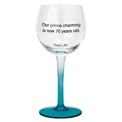 (Prince Charming) - SB Design Studio Prince Charming That's All Wine Glass, 350ml, Clear