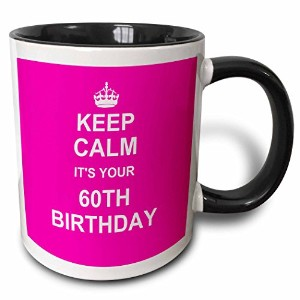 3dローズInspirationzStoreタイポグラフィ – Keep Calm Its Your 60th BirthdayホットピンクガーリーガールズStay Calm and Carry...