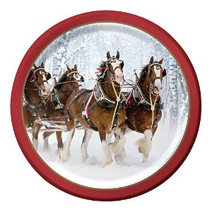 Creative Converting Budweiser 8 Count Paper Dinner Plates, 8.75, Budweiser Clydesdale Pattern by...