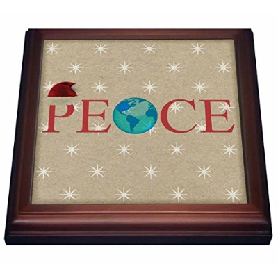 """Patricia Sandersクリスマス–ペーパーバッグPeace on earth- Holiday Inspirations–五徳 8 by 8"""" ブラウン trv_39396_1"""