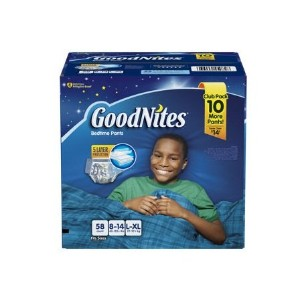 GoodNites Bedtime Underwear for Boys (Size L/XL, 58 ct.) by GoodNites