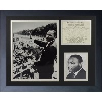 "Legends Never Die "" Martin Luther Kingインチフレーム写真コラージュ、11 x 14インチ"