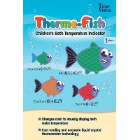 Thermo-Fish Children's Bath Temperature Indicator Sticker by Temp-Visual