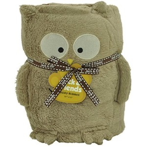 Jack and Friends Cuddly Animal Baby Plush Owl Blanket by Jack & Friends