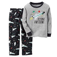 Carter's Baby Boys' Thermal & Microfleece Pajama Set (12 Months, Space Ship) by Carter's