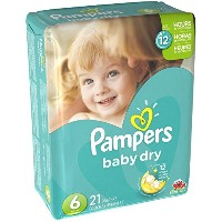 Pampers Baby Dry Diapers Size 6 - 21 ct by Pampers