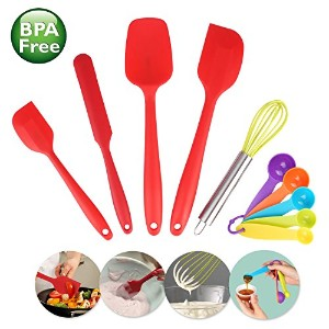 シリコンへら台所用具セットEgg Whisk Measuring Spoon Cooking Bakingツール