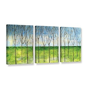 ArtWall 3Piece Herb Dickinson 's The GroveギャラリーWrappedキャンバスセット 24x48 0dic138c2448w