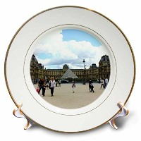 Lenas写真 – パリ – The One and Only Louvre on a Chilly夏日 – プレート 8-Inch cp_38328_1