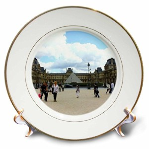 Lenas写真–パリ–The One and Only Louvre on a Chilly夏日–プレート 8-Inch cp_38328_1