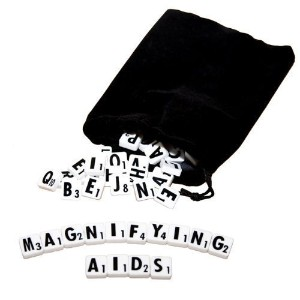 Low Vision Large Print Scrabble Tiles by MAGNIFYING AIDS