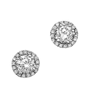 14 KゴールドGenuine Diamond Halo Earrings 0.75 CTW ( i1 – i2 )