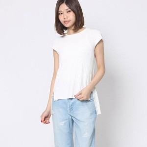 【SALE 70%OFF】ミーア プロデュースド バイ ルーミィーズ MIIA produced by Roomy's OUTLET スリットニット (オフホワイト)