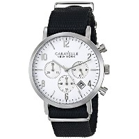 ブローバ Caravelle New York by Bulova Men's 43B137 Analog Display Japanese Quartz Black Watch [並行輸入品]