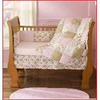 Step by Step Contempo 4 Piece Crib Set- Pink & Brown by Step by Step
