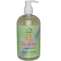 Rainbow Research Baby Oh Baby Unscented Organic Herbal Baby Shampoo 473 ml (並行輸入品)